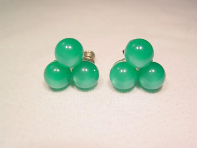 Green Moonglow Earrings