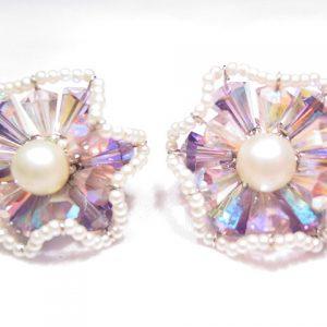 Vendome Lavender and Pearl Earrings