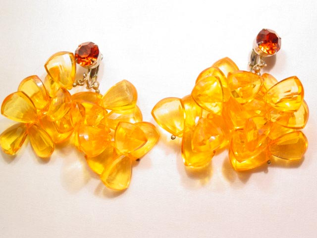 Huge Orange Candy Earrings