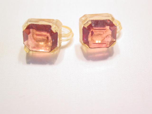 All-Plastic Pink Earrings