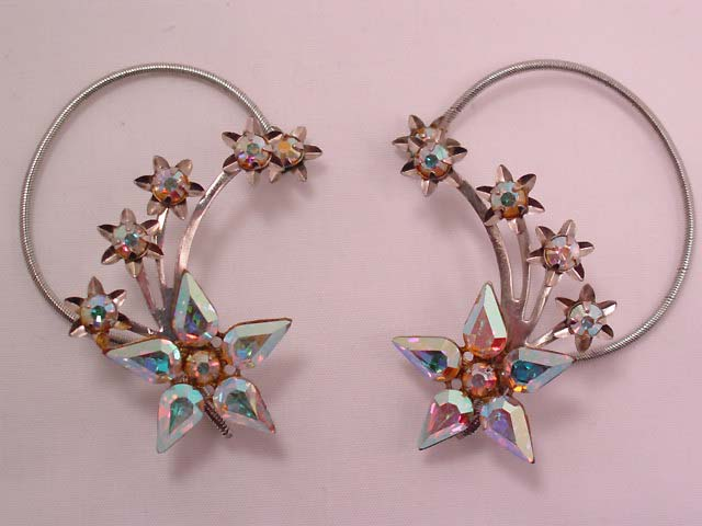 Aurora Borealis Star Burst Wrap-Around Earrings