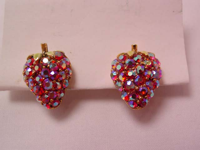 Art Aurora Borealis Strawberry Earrings
