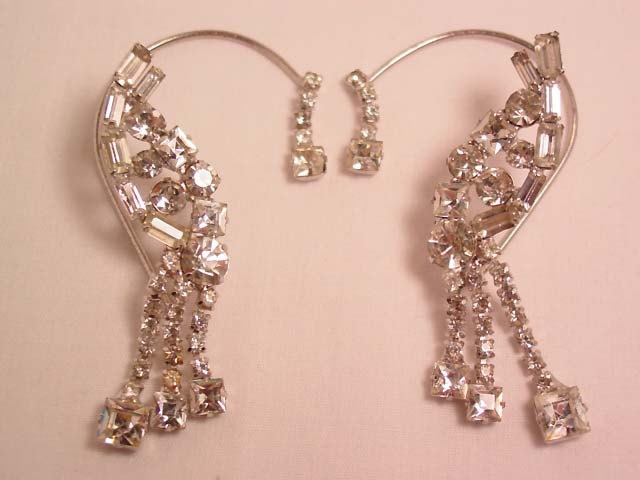 Dazzling Rhinestone Wrap-Around Earrings