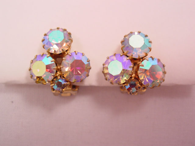 Small Vibrant Aurora Borealis Earrings