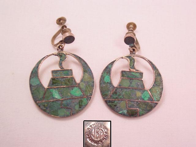 Mayan Temple Sterling Earrings