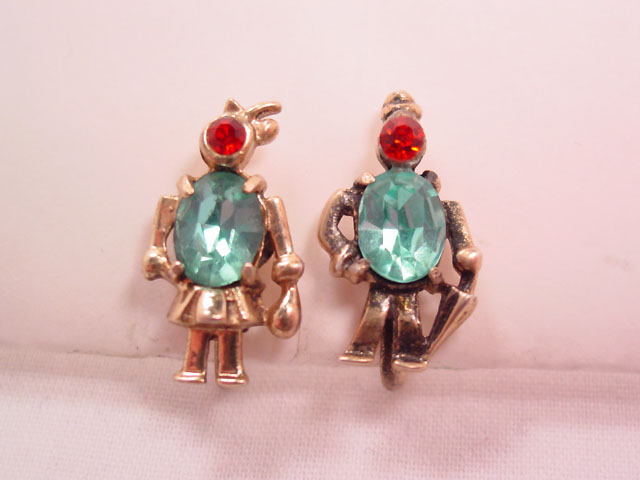 Sterling Man and Woman Earrings