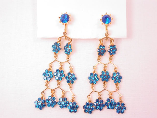 Vibrant Blue Chandelier Earrings