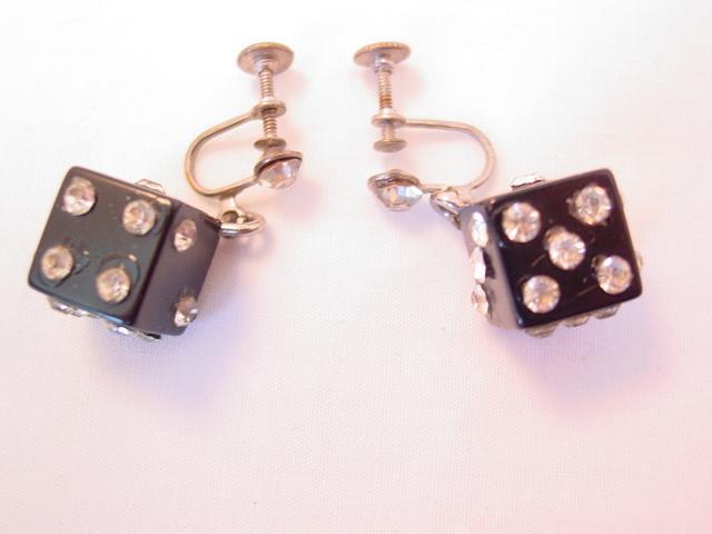 Black Dice Earrings