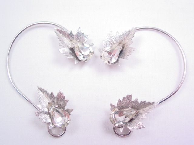 Stunning C.T. Wrap-Around Leaf Earrings