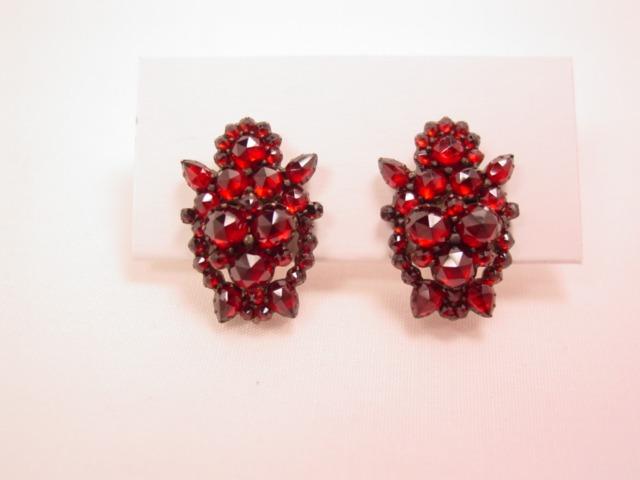 Beautiful Real Garnet Earrings