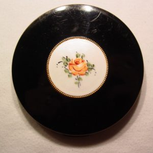 Black, White and Rose Enamel Compact