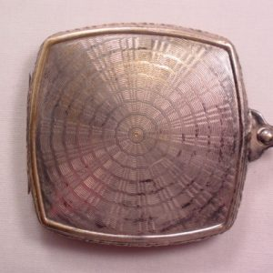 Nickle Silver M.B. Chatelaine Compact