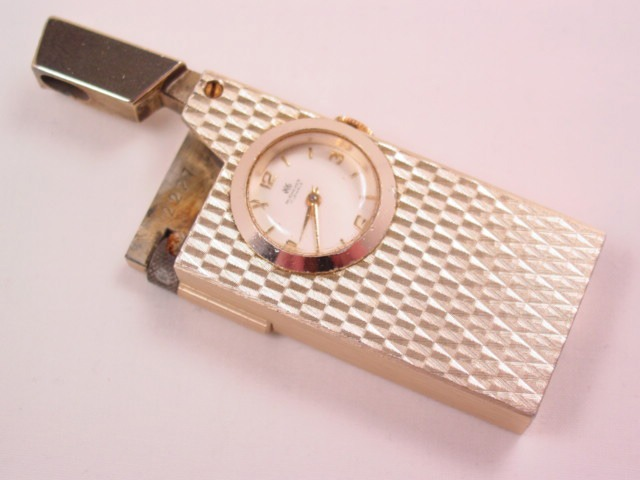 Bucherer Watch Set into a Cigarette Lighter