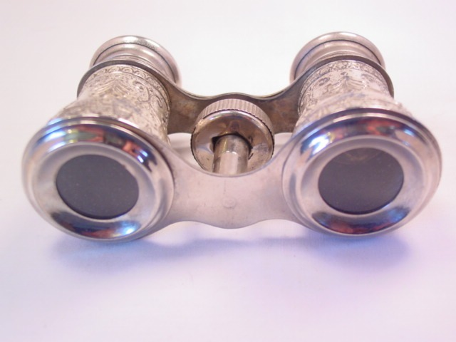 Fancy Silvertone Opera Glasses/Binoculars