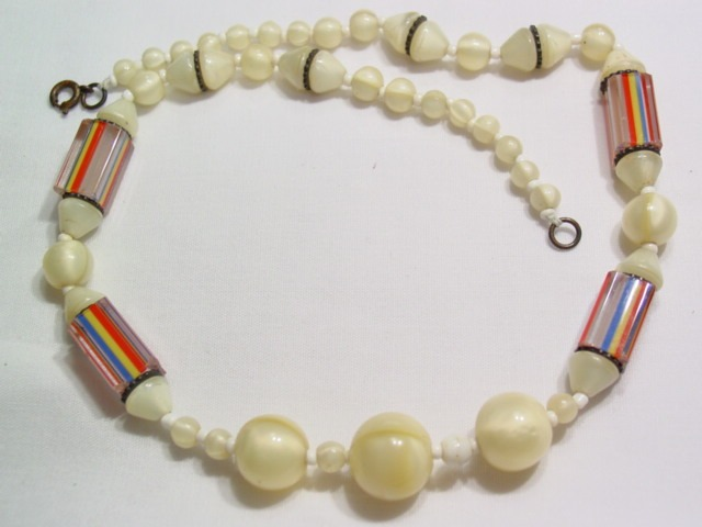 Wonderful Old Candy Stripe Necklace