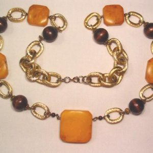 Massive Chain and Bakelite Necklace