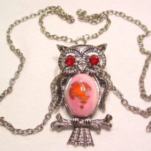 Pink Owl Pin-Necklace