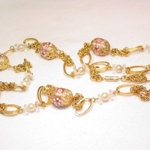 Crystal and White Venetian Necklace