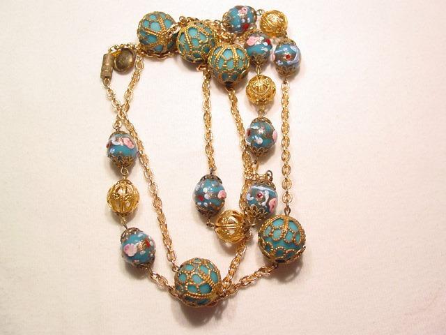 Blue Glass Venetian Necklace