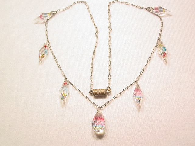 Delicate Rainbow Crystal Necklace
