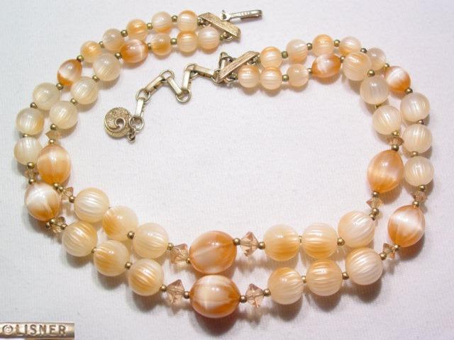 Beige Plastic Lisner Necklace