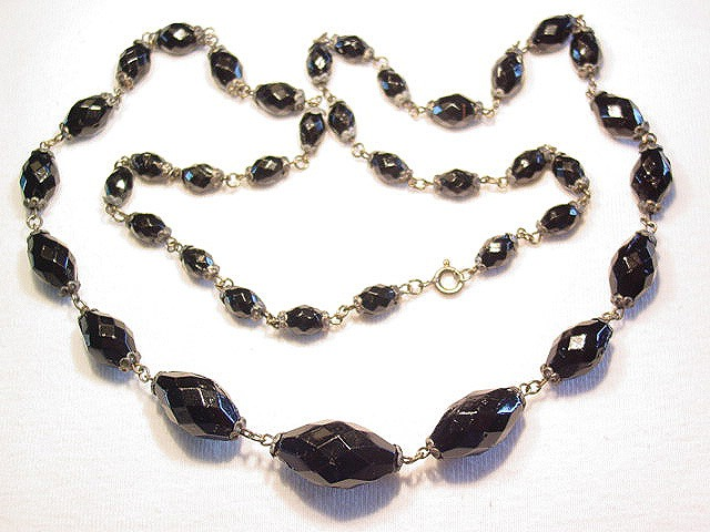 Poured Black Glass Necklace