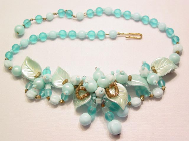 Beautiful Pale Blue West Germany Necklace