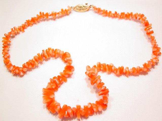 Red-Orange Coral Necklace