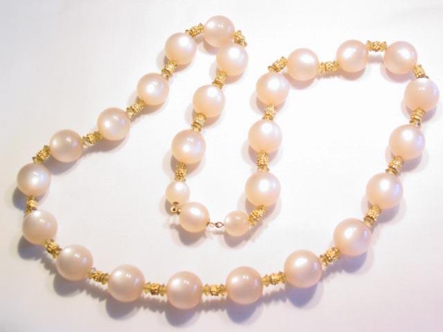 Beige Moonglow Necklace