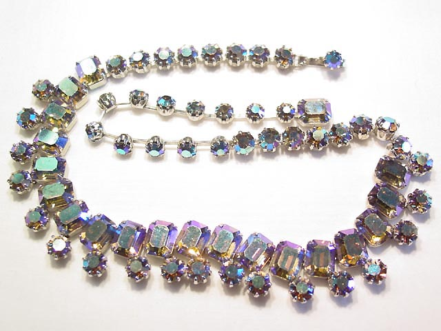 Vibrant Aurora Borealis Weiss Necklace