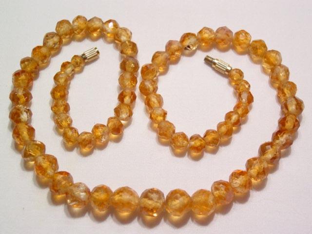 Topaz Colored Quartz Necklace