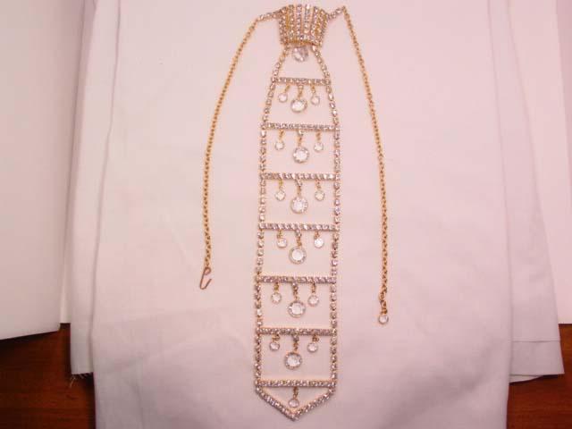 Dazzling Rhinestone Necktie Necklace