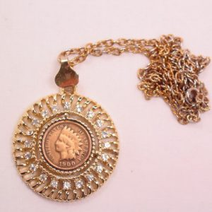 1900 Copper Indian Head Penny Necklace