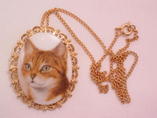 Cat Portrait Pin/Necklace