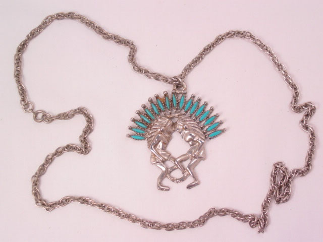 Dancing Indian Chiefs Necklace