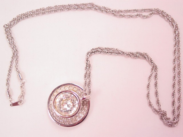 Swarovski (with Swan) Cup and Saucer Necklace