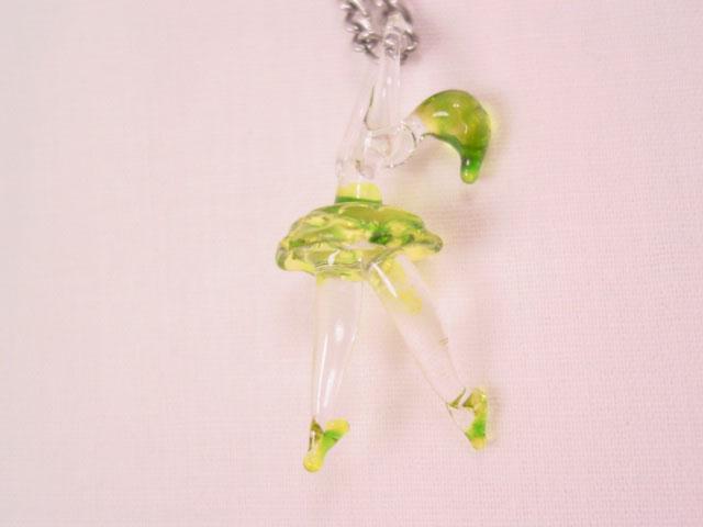 Blown Glass Ballerina Necklace