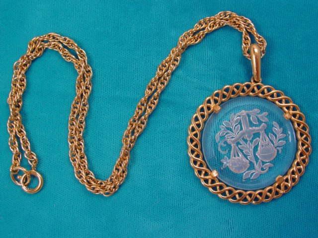 Trifari Glass Libra Necklace