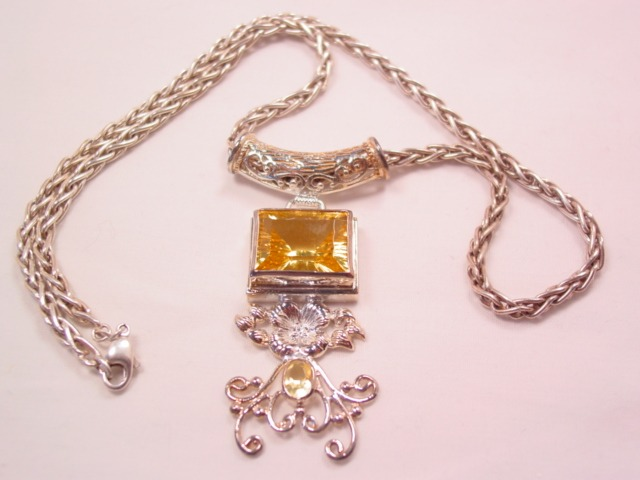 Stunning Citrine and Sterling Necklace