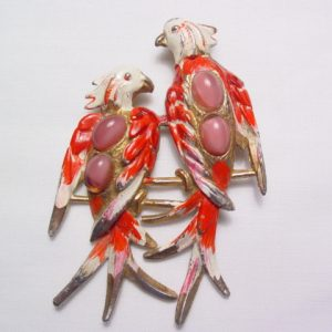 Signed Red Birds on a Branch Pin