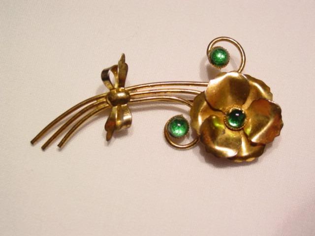 Sterling Flower Pin