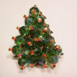 Green Aurora Borealis Christmas Tree Pin