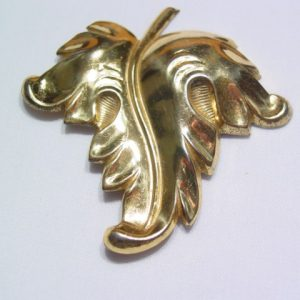 Sterling Gold-Plated Leaf Pin