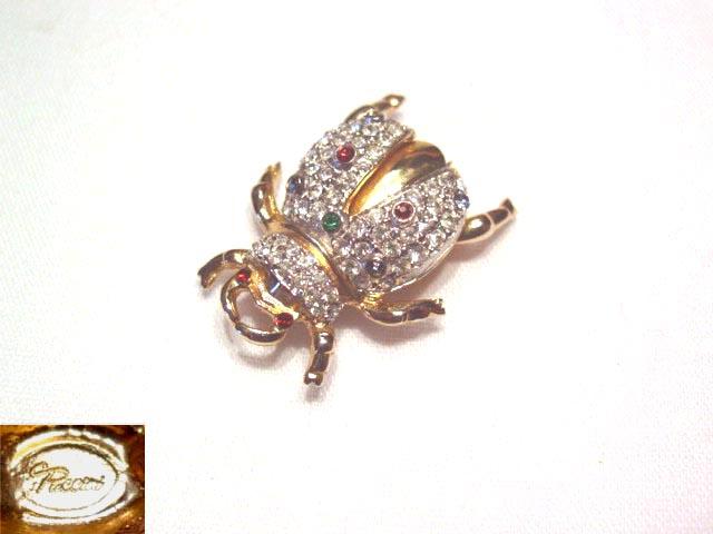 Beautiful Winged Bug Rhinestone Pin