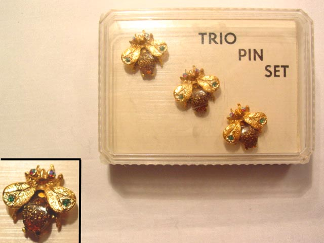 Trio Bug Pin Set