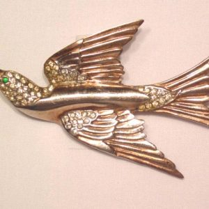 Sterling Bird in Flight Pin