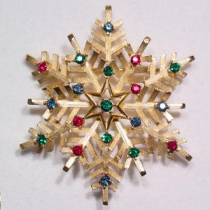 Trifari Christmas Snowflake Pin