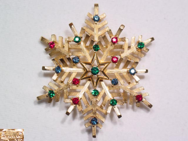 Trifari Christmas Snowflake Pin