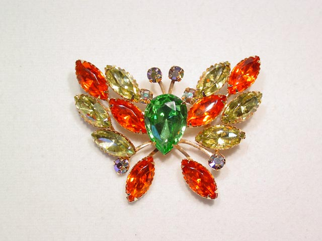 Bright Spring Colored Butterfly Pin