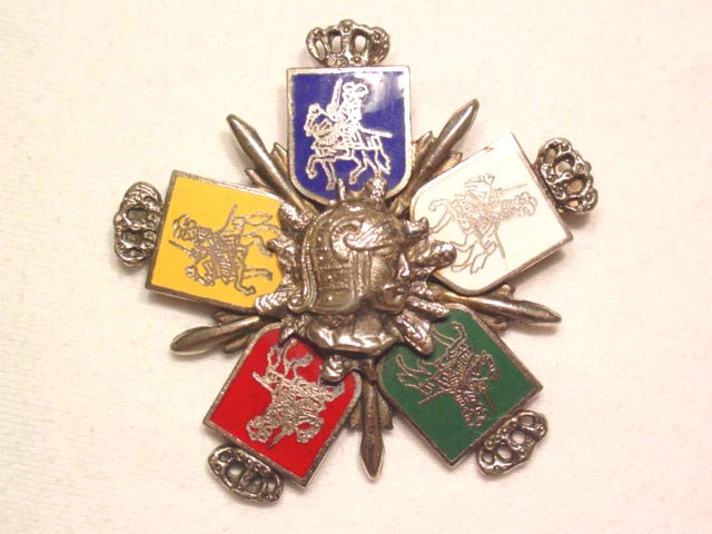 Enameled Knight and Coat of Arms Pin/Pendant
